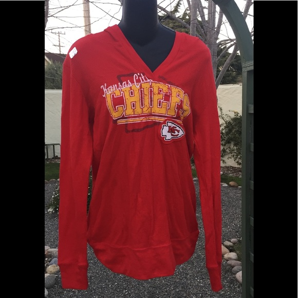 NFL Team Apparel Tops | Kansas City Chiefs Womens Thermal Hoodie